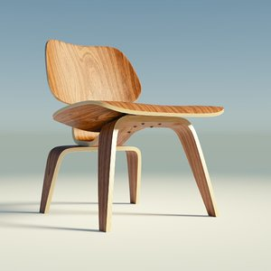 3d model eames lounge chair wood