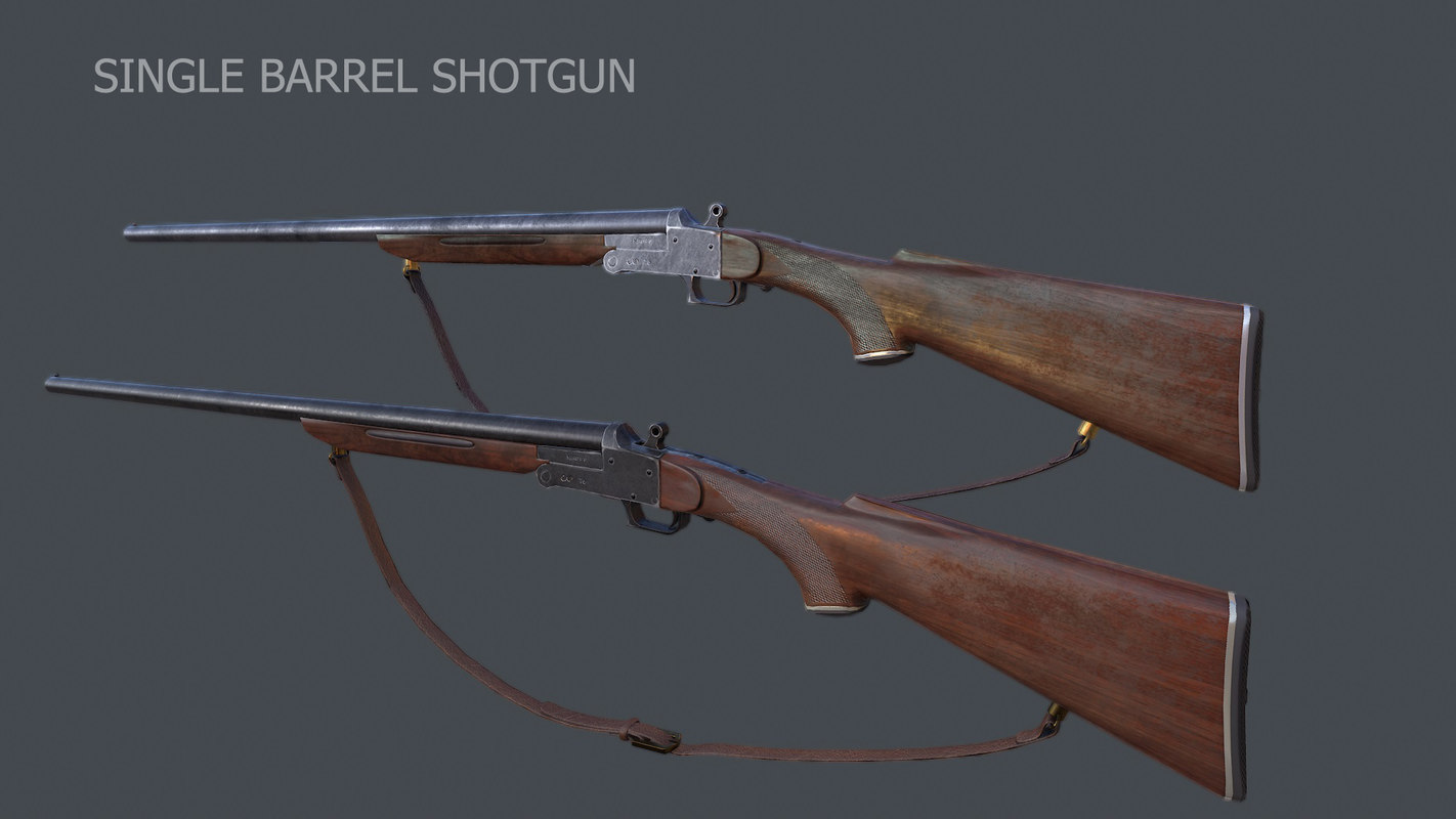 3ds max single barrel shotgun