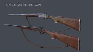 3ds max single barrel shotgun