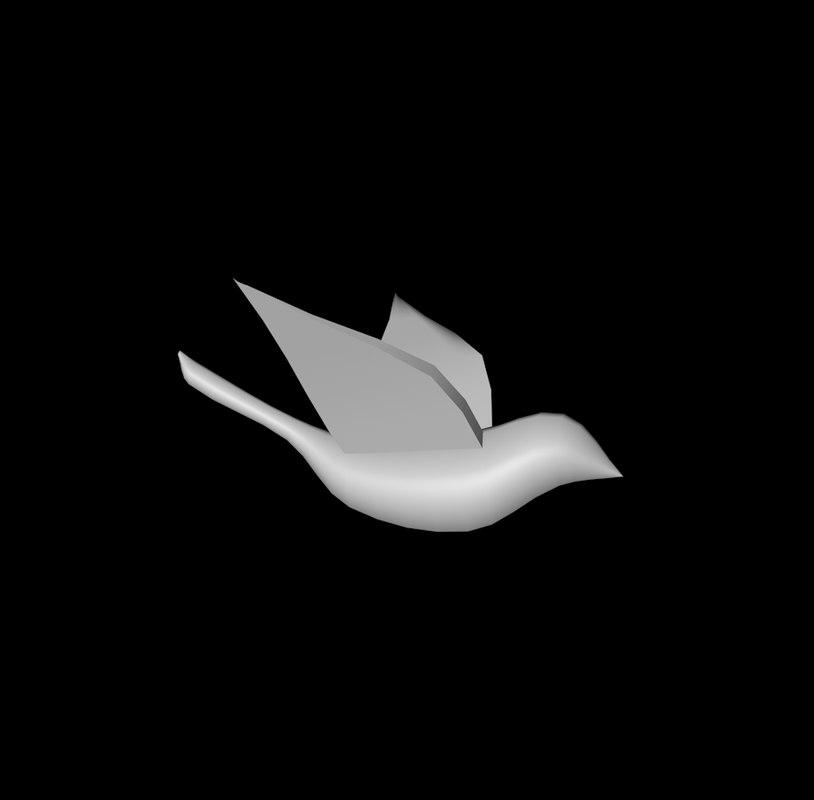 free bird flock 3d model