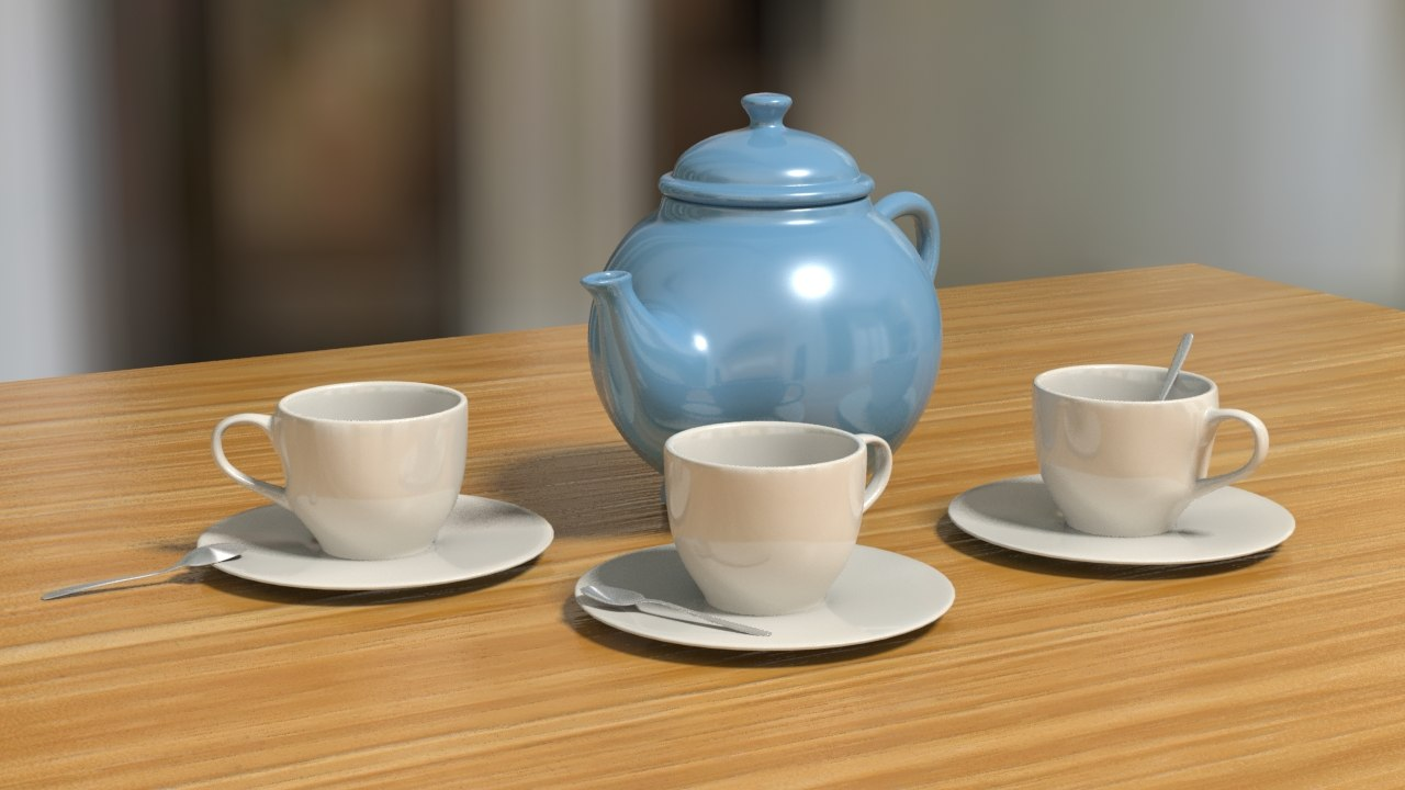 tea set 3d max