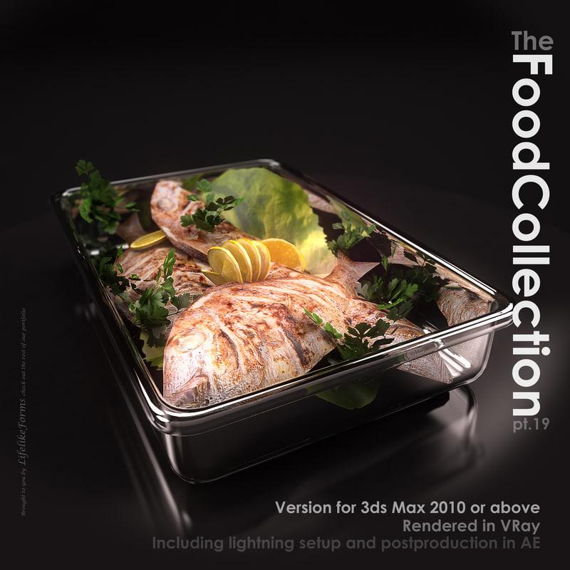 fish glass pan 3d model