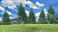 pine tree forest - 3d obj