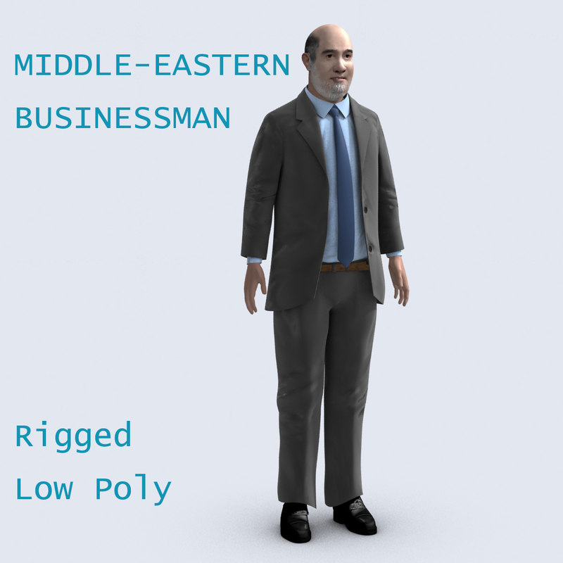 3ds max middle eastern businessman