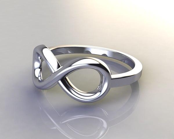 3d model ring infinity