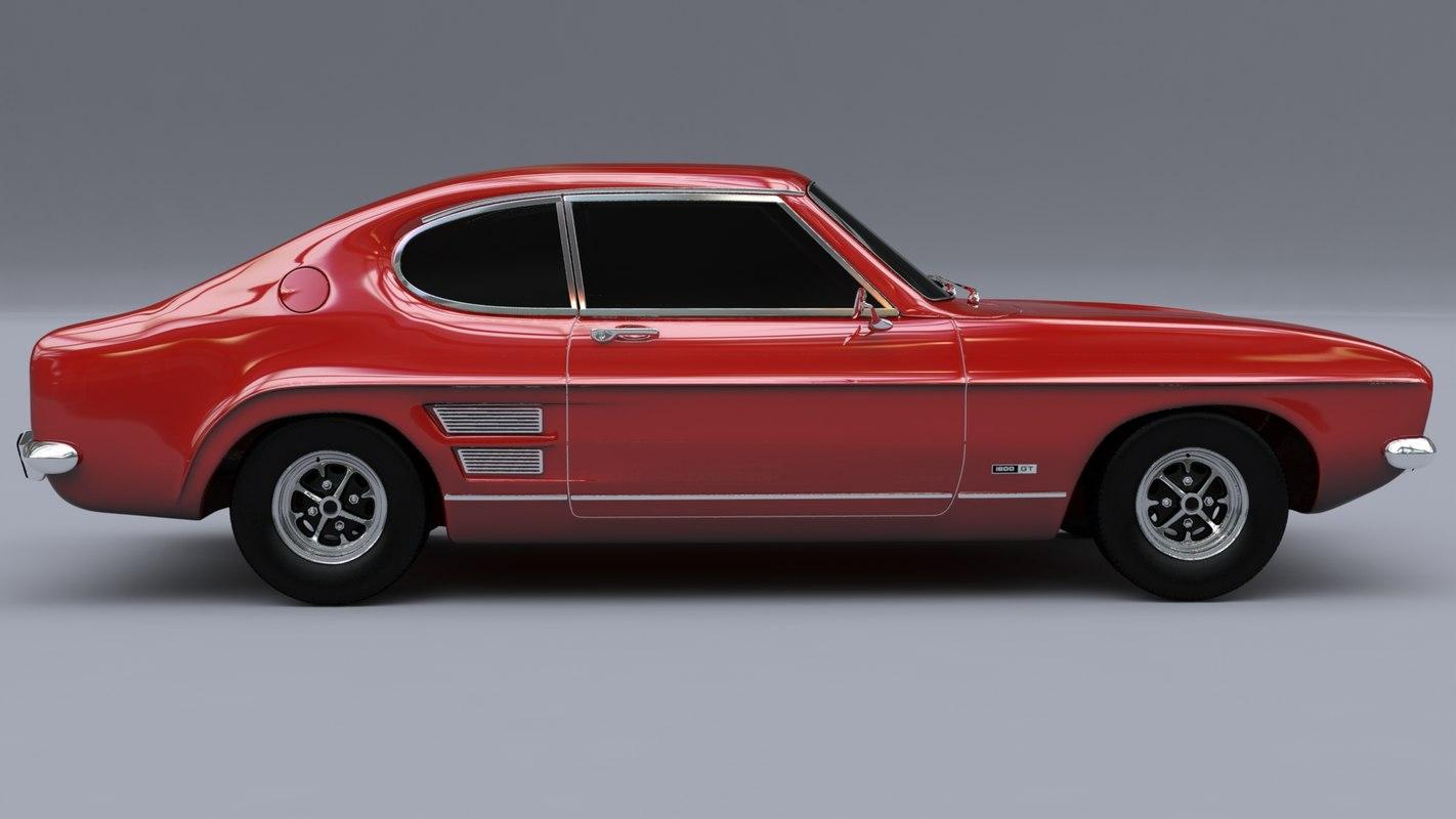 3d модель ford capri