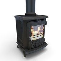 3ds max wood burning stove