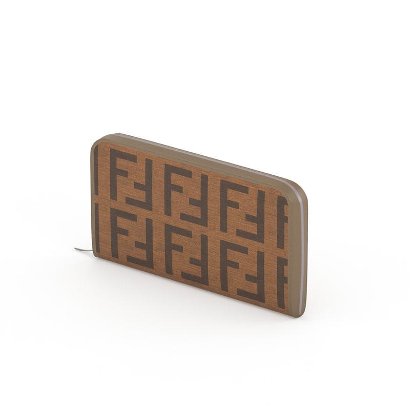 3d fendi wallet model