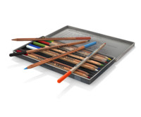 pencils polycolor 3d model