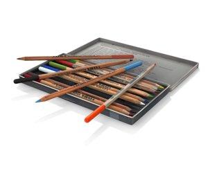 pencils polycolor 3d model
