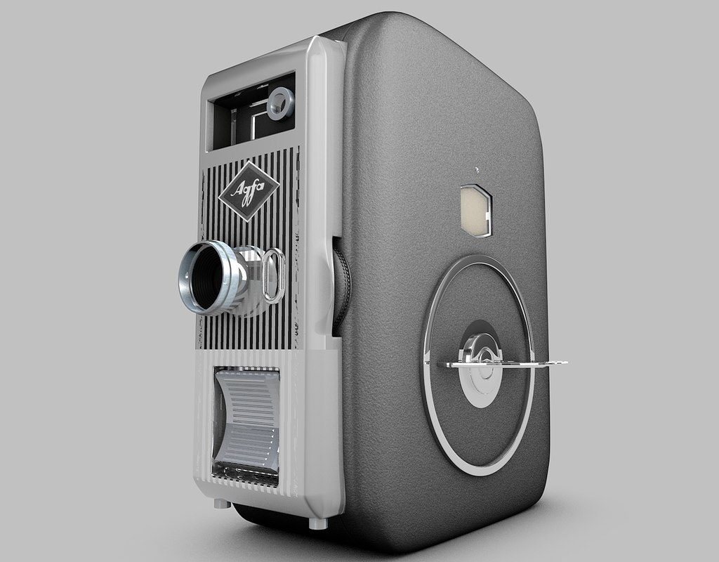 3d agfa vintage camera model