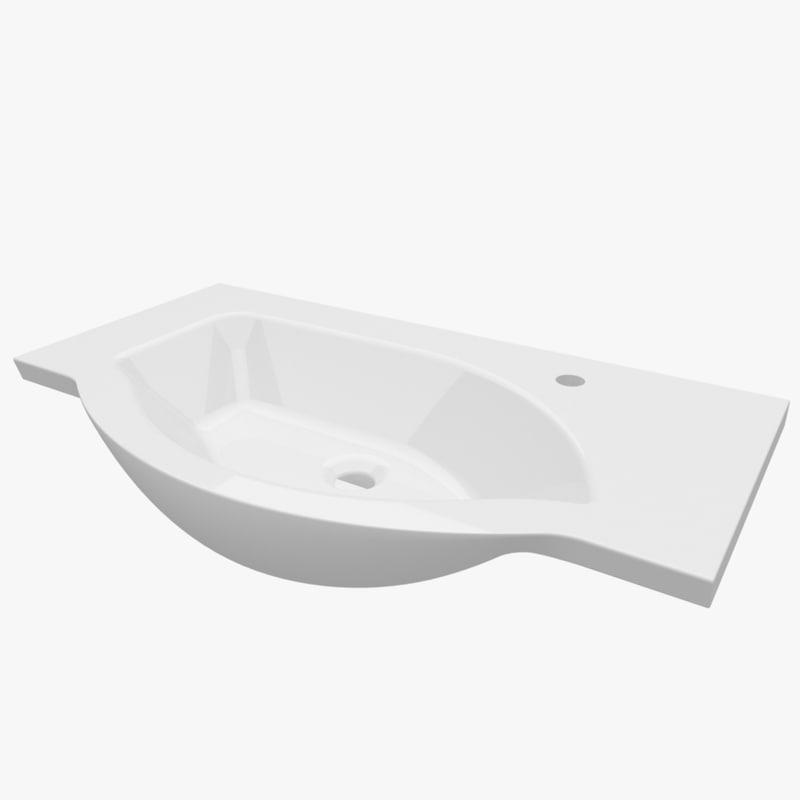 3d washbasin 900 370