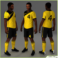 3d model of team soccer