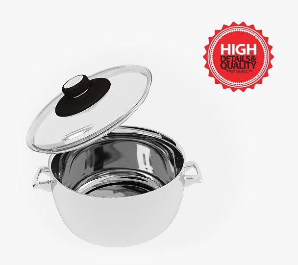 kitchen pot 3d model