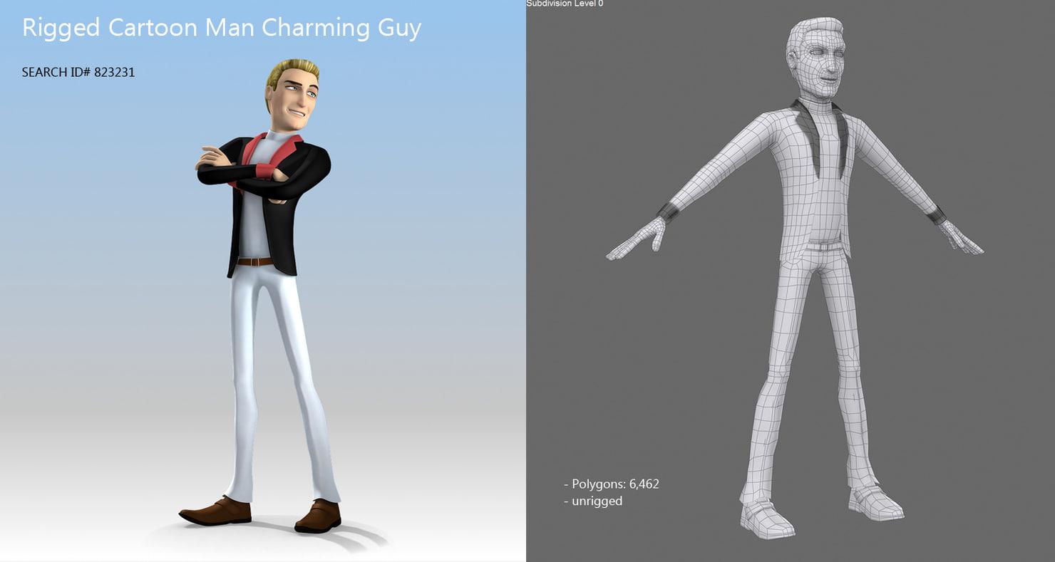 charming guy 3d model