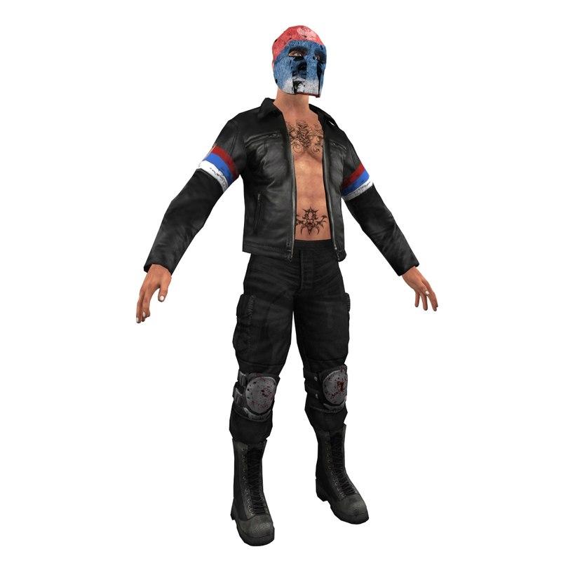 guerrilla soldier games 3d model