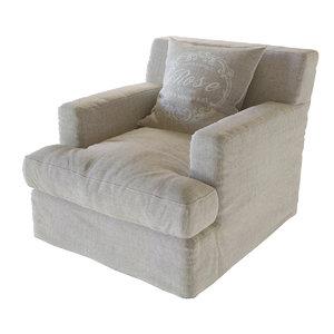 3ds max meridiani bogart slim armchair