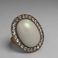 classic opal ring 3d max