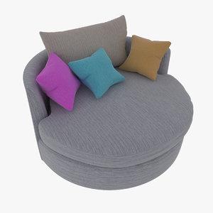photorealistic sofas 3d 3ds