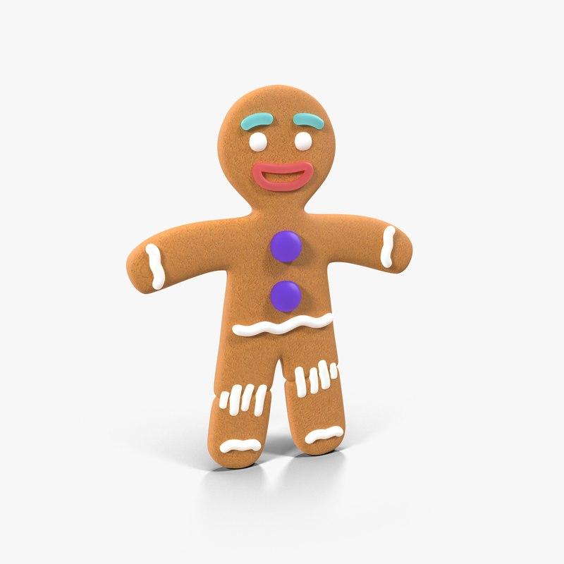 gingerbread man static 3d model