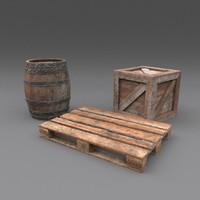 pbr details crate 3d model
