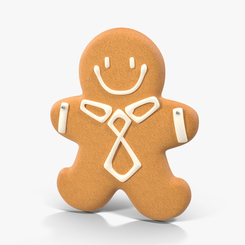 gingerbread cookie 02 3d max
