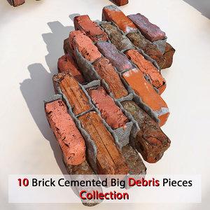 brick v-ray 3d model