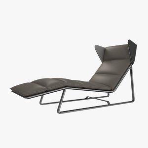 3d model esedra romea modern chaise lounge