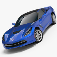 chevrolet corvette stingray c7 3d model