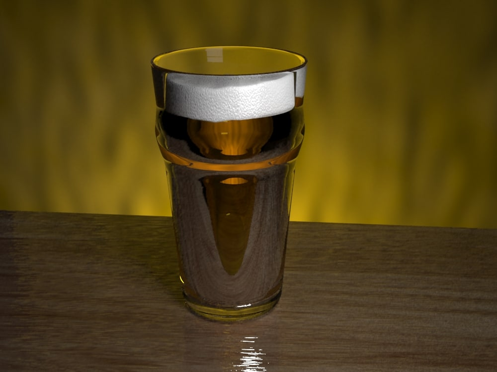 3dsmax beer glass