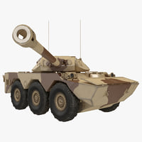 3d armoured vehicle amx 10 model
