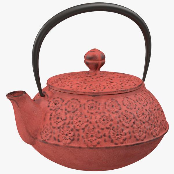 cast iron tea kettle 3d model