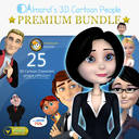 characters cartoon people pack max