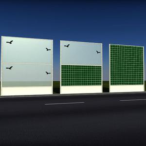 noise barrier 3d 3ds