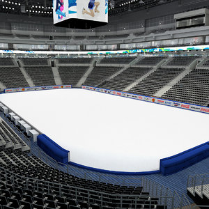 figure skating arena 3d max