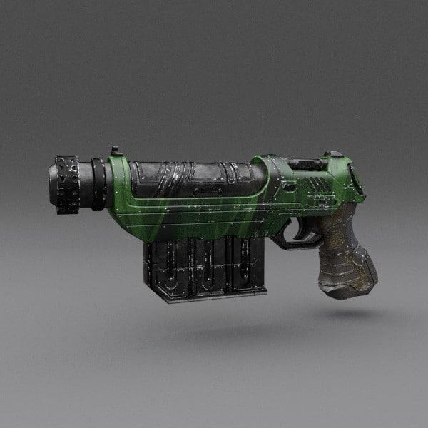 gun pbr details 3ds