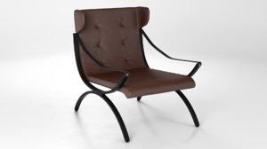 3d model shelford armchair