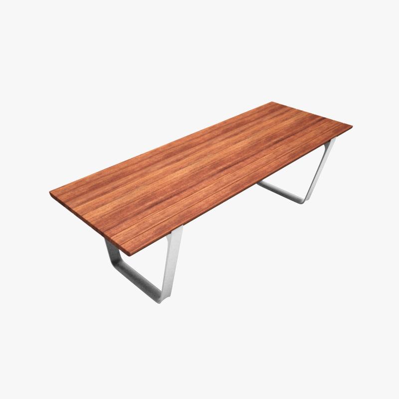 3d model table outdoor public