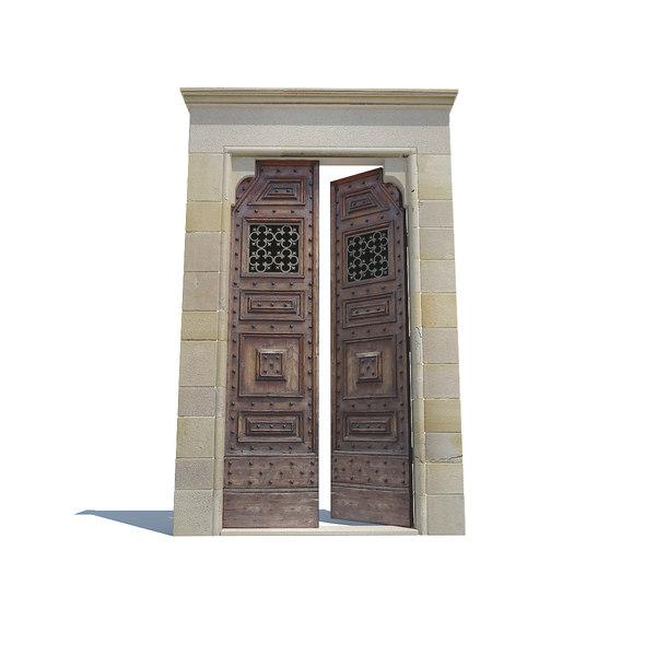 3d max moroccan doorway doors