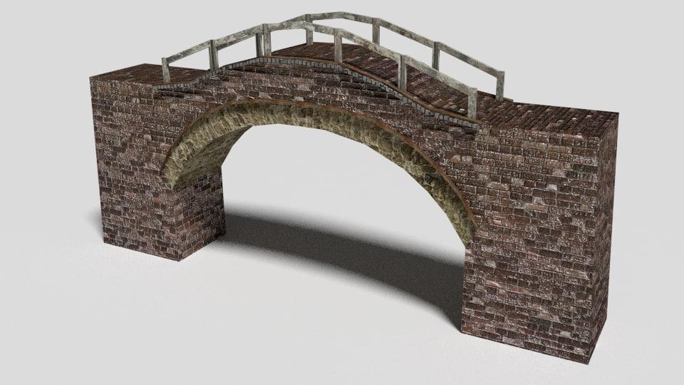 stone bridge 3d obj