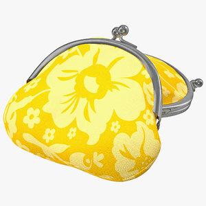 clasp coin purse 3d model