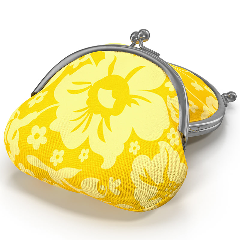 clasp coin purse 3d model