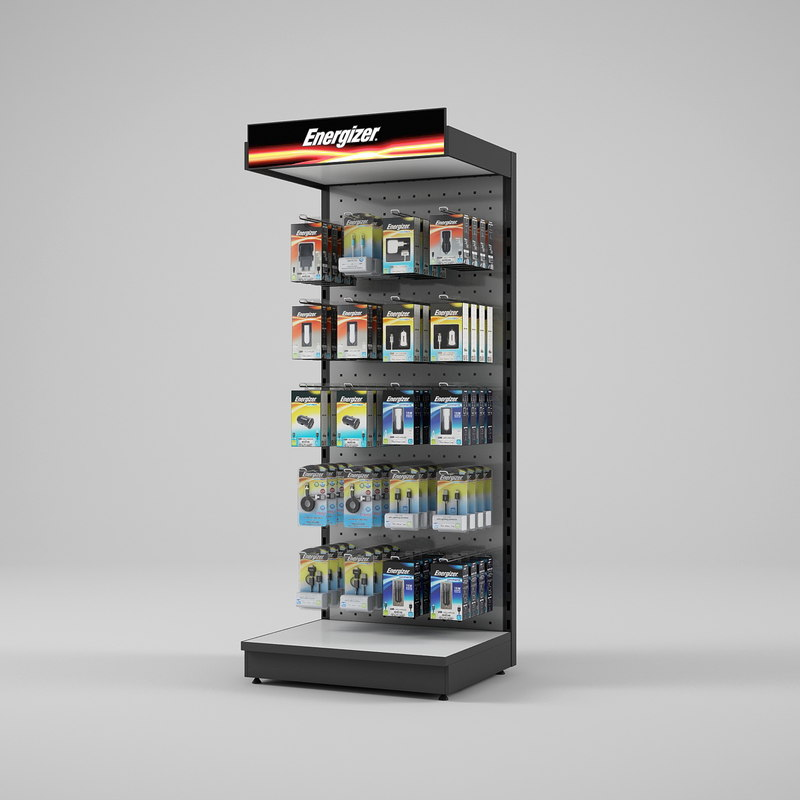 display rack energizer 3d model