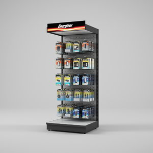 display rack energizer 3d model