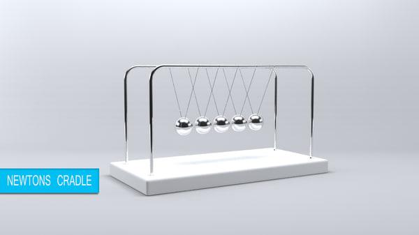 free newtons cradle 3d model