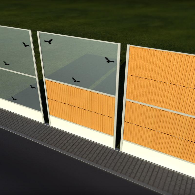 3d noise barrier model