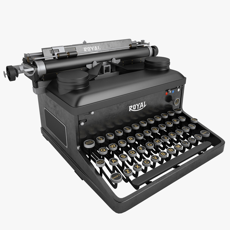 3d model typewriter royal writer