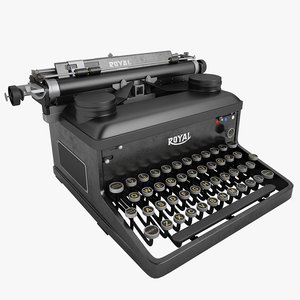 3d model typewriter royal writer
