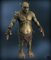 3d fantasy goblin model