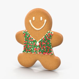 3d model gingerbread cookie 03